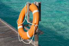 A lifebuoy, safety equipment Stock Images