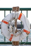 Lifebuoy. For safety and rescue at a Harbour royalty free stock photos