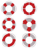 Lifebuoy for salvage. Icons of lifebuoy for salvage,  illustration Stock Photo