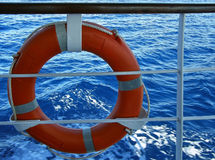 Lifebuoy and sea 1 Stock Image