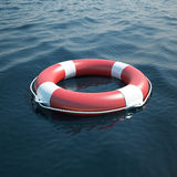 Lifebuoy in the sea Stock Photo