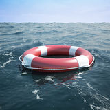 Lifebuoy in the sea Stock Photos
