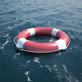 Lifebuoy in the sea Stock Image