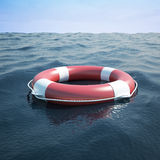 Lifebuoy in the sea Stock Photography