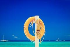 Lifebuoy at the sea Stock Image