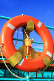 Lifebuoy on the ship Royalty Free Stock Photo
