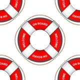 Lifebuoy from the ship seamless pattern. royalty free illustration