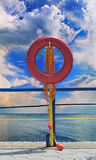 Lifebuoy skyline royalty free stock image