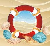 lifebuoy sommar för bakgrundsram Royaltyfri Foto