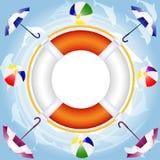 Lifebuoy sopra acqua Immagine Stock Libera da Diritti