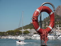 Lifebuoy. In spain at the beach Stock Photo
