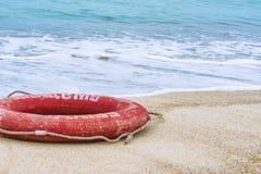 lifebuoy strand Arkivfoton