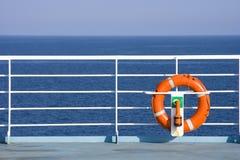 Lifebuoy sulla nave Immagini Stock