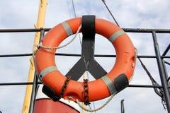 Lifebuoy sulla nave Immagini Stock Libere da Diritti