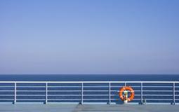 Lifebuoy sur le bateau Images libres de droits