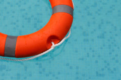 Lifebuoy in the swimming pool Royalty Free Stock Photography