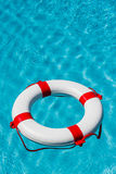 Lifebuoy in a swimming pool Royalty Free Stock Image