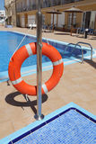 Lifebuoy at swimming pool Royalty Free Stock Photography