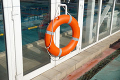 Lifebuoy in the swimming pool Royalty Free Stock Photos