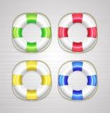 Lifebuoy symboler för vektor Royaltyfri Bild