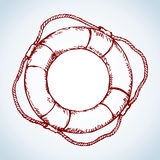 Lifebuoy. Vector drawing Royalty Free Stock Images