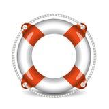Lifebuoy vector illustration isolated on white background.  Stock Images