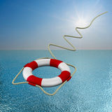 Lifebuoy on water Stock Images