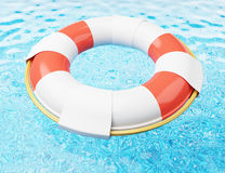 Lifebuoy on water Stock Photography