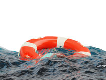 Lifebuoy on water surface Stock Images