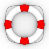 Lifebuoy on a white background Stock Image