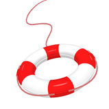 Lifebuoy. White red Lifebuoy isolated on white Stock Image