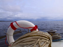 Lifebuoy and Winch Stock Images