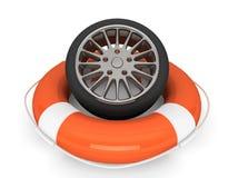 Free Lifebuoy With Wheel Tyre Royalty Free Stock Photos - 28948008