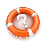 Lifebuoy witn Fragezeichen lizenzfreie abbildung