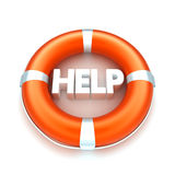 Lifebuoy witn help text Stock Photo