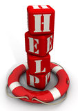 Lifebuoy and the word help Stock Images