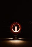 Lifebuoy z ciemnawym światłem blisko plaży Obraz Royalty Free