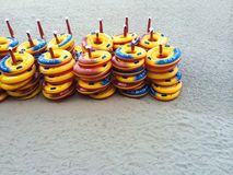 Lifebuoys on the beach Royalty Free Stock Photo