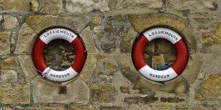 Lifebuoys Lossiemouth. Стоковые Изображения RF
