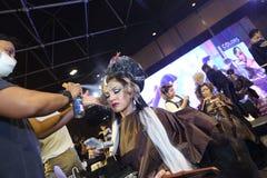 Lifeford a enchanté princesse Bridal Makeup 2017, rond final à B Photo libre de droits