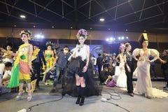 Lifeford a enchanté princesse Bridal Makeup 2017, rond final à B Photos stock