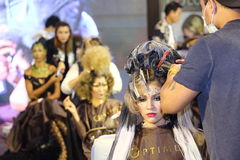Lifeford Verrukte Prinses Bridal Makeup 2017, Definitieve Ronde bij B Stock Afbeelding