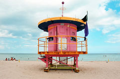 Lifegard post in miami Stock Photography