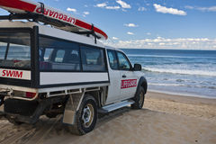 Lifegaurd Protection. Lifegaurd's Truck on the beach Royalty Free Stock Image