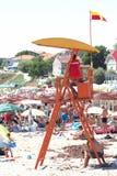 Lifeguard στη Ρουμανία 2 παραλία της Mai Ρουμανία Στοκ Εικόνες