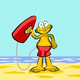 Lifeguard on the beach Royalty Free Stock Image