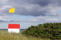 Lifeguard on the beach in Denmark Royalty Free Stock Images