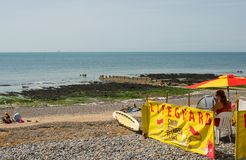Lifeguard on beach at Ovingdean, Brighton, England Stock Photo