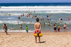 Lifeguard Beach People Ocean royalty free stock photo