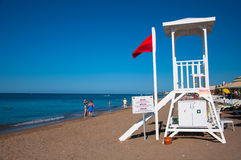 Lifeguard. On the beach side to Antalya Royalty Free Stock Image
